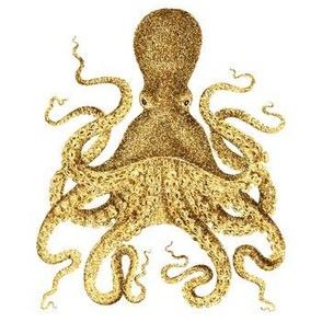 Gold Glitter Octopus