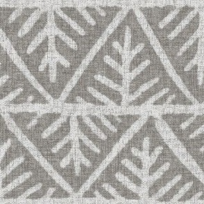 Textured Mudcloth in Gray