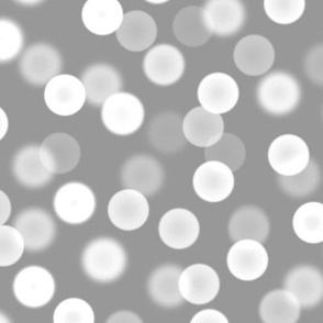 bokeh polka dots - silver