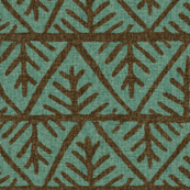 Textured Mudcloth in Teal / Bark