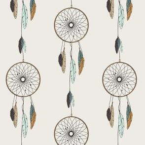 dreamcatcher // mint & teal