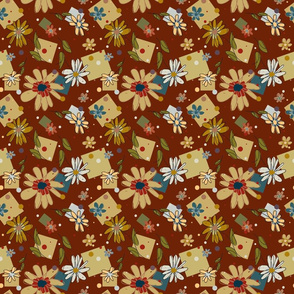 Flower_and_Squares_Brown