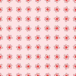 Pink and Coral Daisy dots
