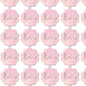 Hello Button fabric