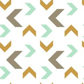 Aztec Arrows gold aqua gray