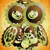 Lighter Larger Brassy Cog Owl
