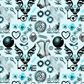 Steampunk Romance (Blue)