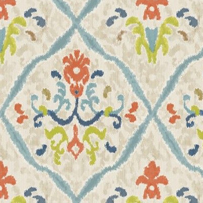 Manor Ikat Damask