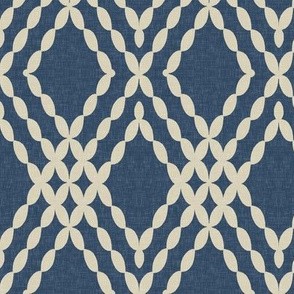 Kensington Lattice in Tint on Indigo