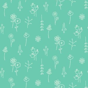 "Flower Show Teal (4"")"