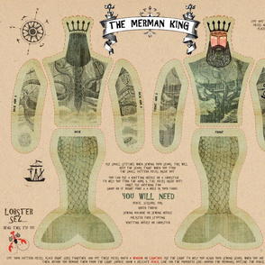 The Merman King (Cut and Sew Pattern)