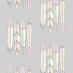 4 Feathers grey - BlueMoon Design