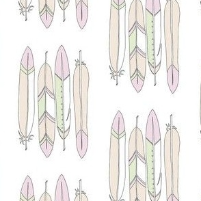 Sand Feathers with white base
