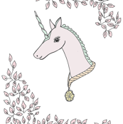 Unicorn and pink dreams - BlueMoon Design