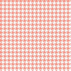 houndstooth peach