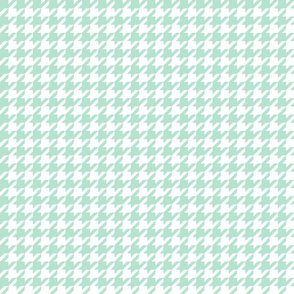 Houndstooth Mint Green