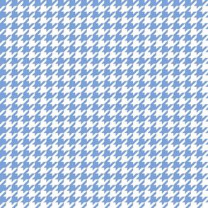 houndstooth cornflower blue