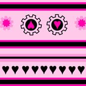 Hearts & Cogs Striped II