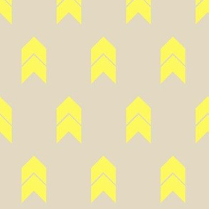 Tan and yellow chevron
