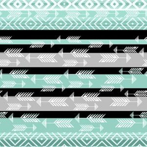 Arrows in Ethnic mint