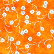 Folk Floral tangerine