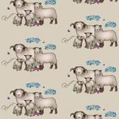 Bo Peep's Sheep Tan