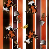 Ray Gun Raccoon and Dancing Tree Stripes