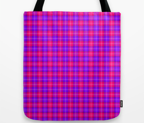 Crazy Pink and Purple Plaid