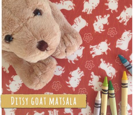 Ditsy Sheep Goat - Marsala
