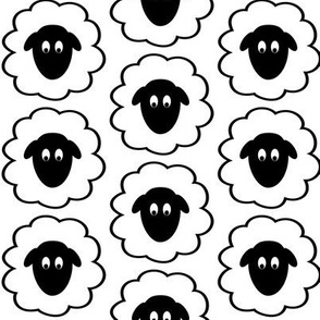 Fluffy Sheep Faces
