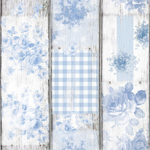Mamie Wallpaper blue