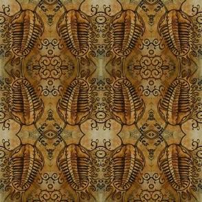 Victorian Trilobites (rust orange)