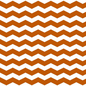 Spiced Pumpkin  and White ~ Chevron