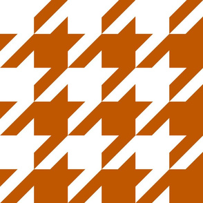 Spiced Pumpkin  and White ~ The Houndstooth Check