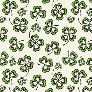 Lucky Shamrocks Irish Linen