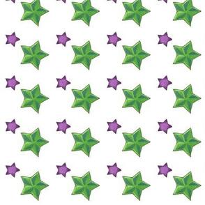 stars on white