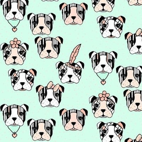 Dogs and dots accessorized mint