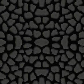 gray on black mosaic