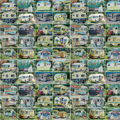 vintage camper collage