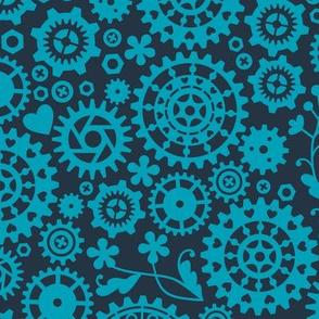 Cogwheels (blue)