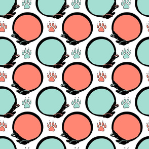 Paw prints and collars - Spoonflower special B