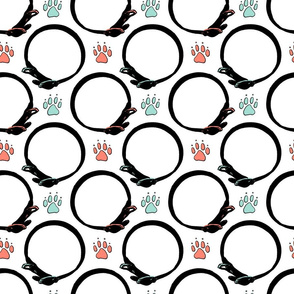 Paw prints and collars - Spoonflower special