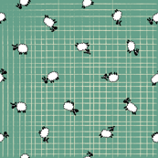 Ditsy Sheep scatter grid
