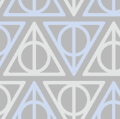 Pastel Potter - Blue/Gray Deathly Hallows