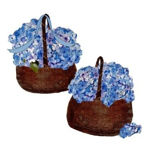 baskets of hydrangeas