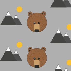 Bear and mountains
