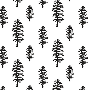 Forest Trees Black