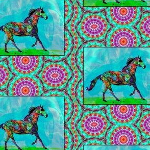 A Celtic Horse, In Mythic Fields, Heading East
