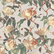 Soft Painted Vintage Roses