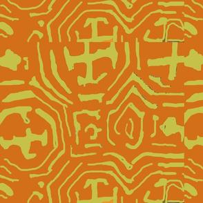 tribal orange lime